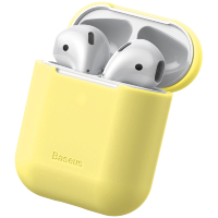 Чехол Baseus Case для Apple Airpods Желтый
